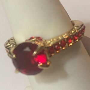 NWT Red & Goldtone Ring Size 6